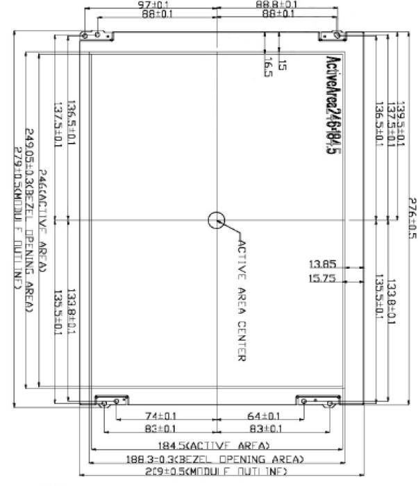 12.1 inch 800 x 600 Transmissive Color TFT Display