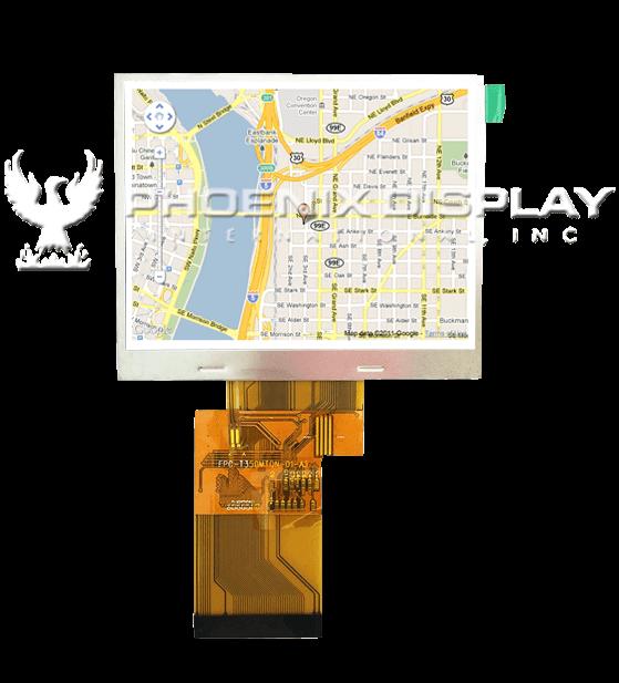 3.5 240 x320 Transmissive Color TFT Display   PDI350MTQV-01  Phoenix Display International