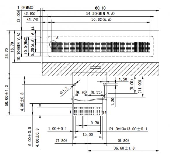 16 x 1 Character Display LCD | Phoenix Display