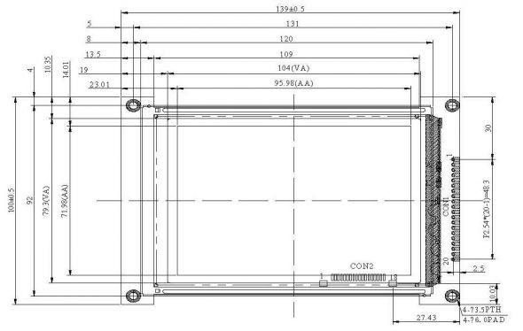 4.70 inch 320 x 240 Graphic LCD Display