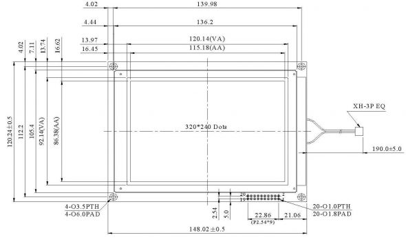 5.70 inch 320 x 240 Graphic LCD Display