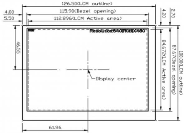 5.6 inch 640 x 480 Transmissive Color TFT Display
