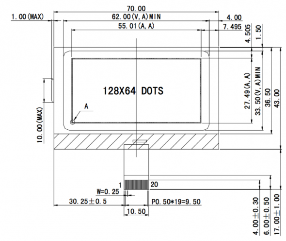 2.40 inch 160 x 128 Graphic LCD Display